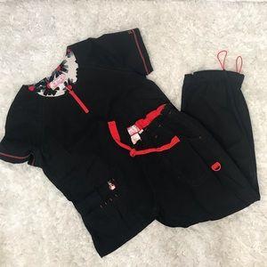koi Pants - KOI Limited Edition Black Scrub Set